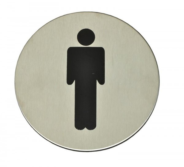 WC Schild   Türschild für das WC   Edelstahl   Männer   Frauen  