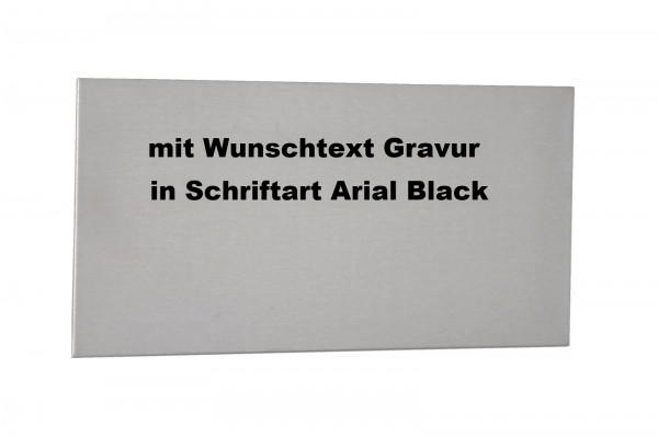 Edelstahlplatte 20x10 zum Kleben mit Gravur