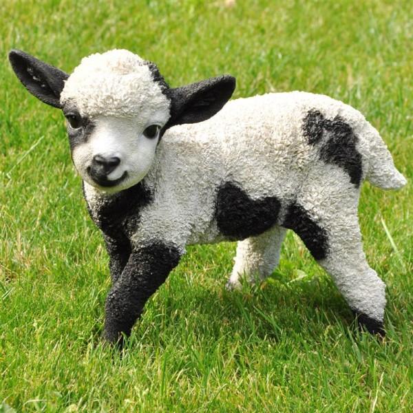 Schaf | Lamm | Gartenfigur | hochwertiger Kunststein Polyresin |