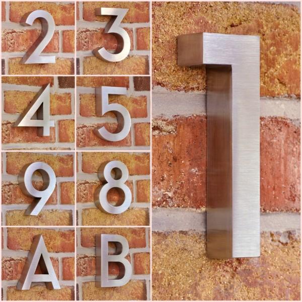 Edelstahl Hausnummer Style - 15, 5 cm - rostfrei - witterungsbeständig