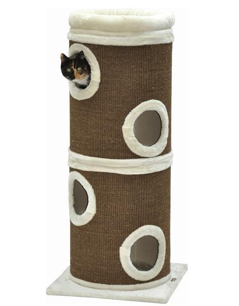 XL Kratztonne Gizmo braun 123 x 46 cm - mit Katzenbett