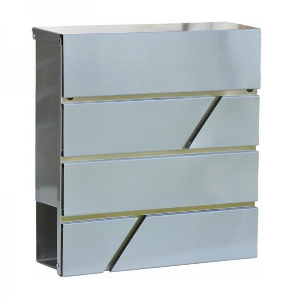 Briefkasten in Silber kaufen | Figura | Edelstahl | Zeitungsfach |