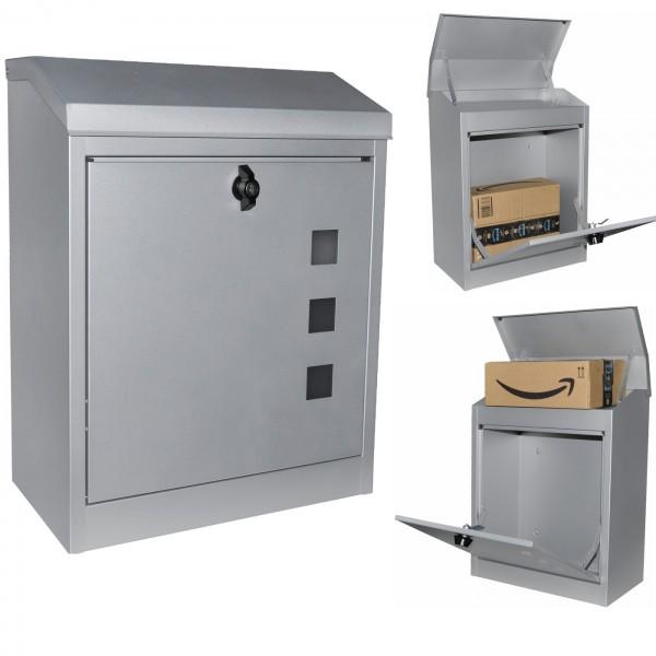 Paketbox kaufen | Briefkasten | Silber | DIN A4 geeignet |