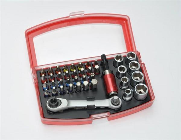 MK Bit Box mit Knarrenset Steckschlüssel Ratschenkasten