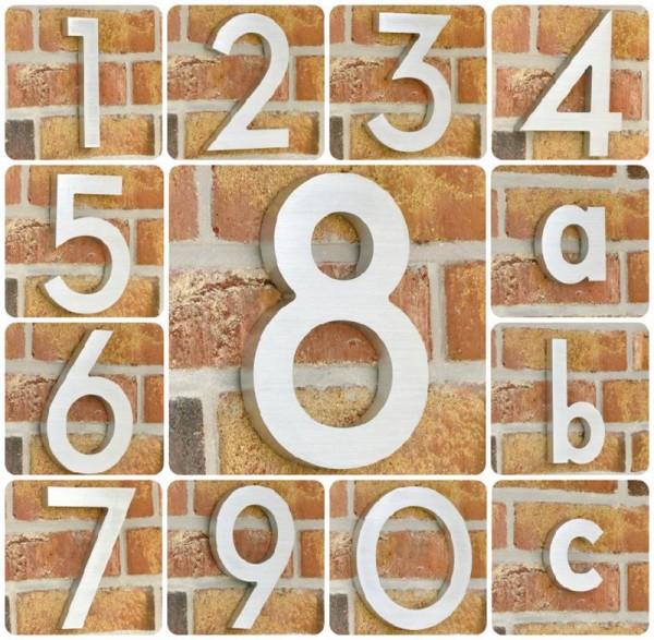 Aluminium Massiv Hausnummer Scala XL - 200 x 14 mm - alle Zahlen
