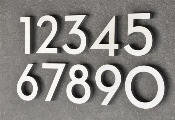 Hausnummer Haustürnummer Aluminium Scala Nr. 0-9