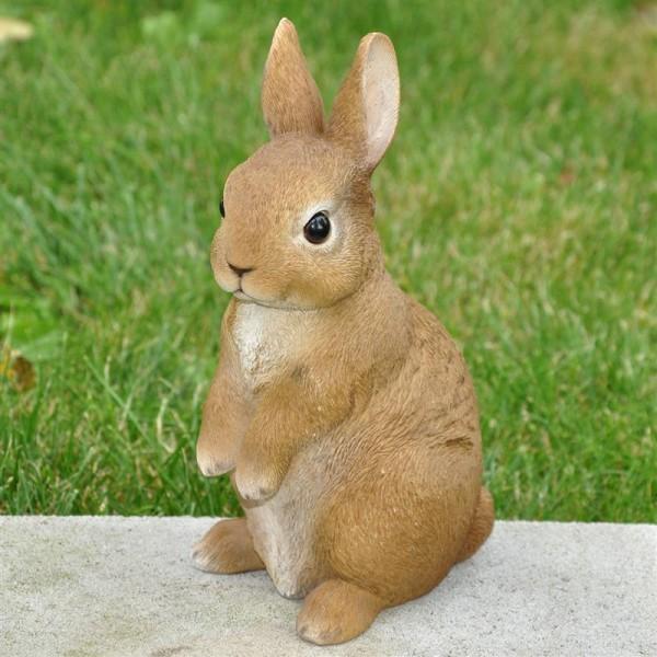 Dekofigur Gartenfigur Hase aufrecht sitzend
