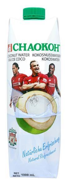 12 x 1 L Chaokoh 100% Kokoswasser Liverpool Edition
