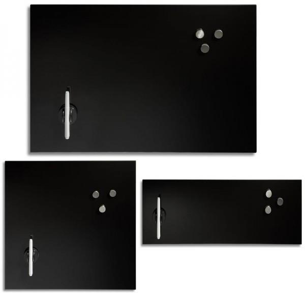 Memoboard Magnetboard Glas schwarz verschiedene Größen