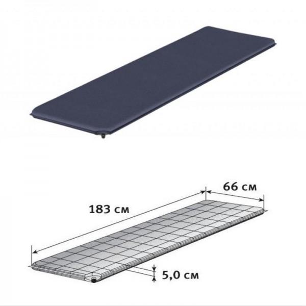 Trekkingmatte Isomatte BEST blau 183x66x5 cm