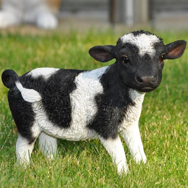 Stehende Kuh als Gartenfigur | 18 x 15 x 8 cm | wetterfest |