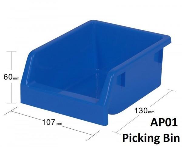 20-er Set Kunststoff Stapelbox blau