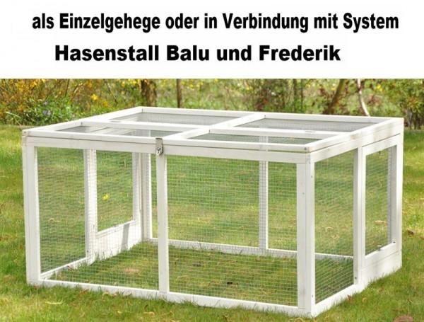 Freilaufgehege für Hasenställe Balu / Frederik