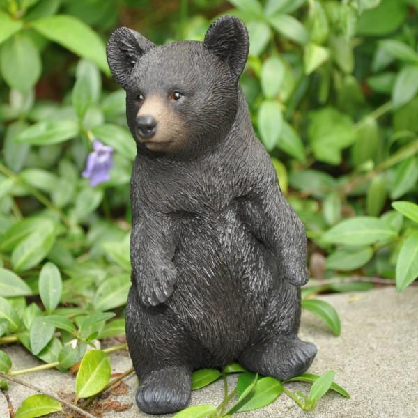 Gartenfigur Deko Figur stehender Bär / Schwarzbär - 14,5 x 8 cm
