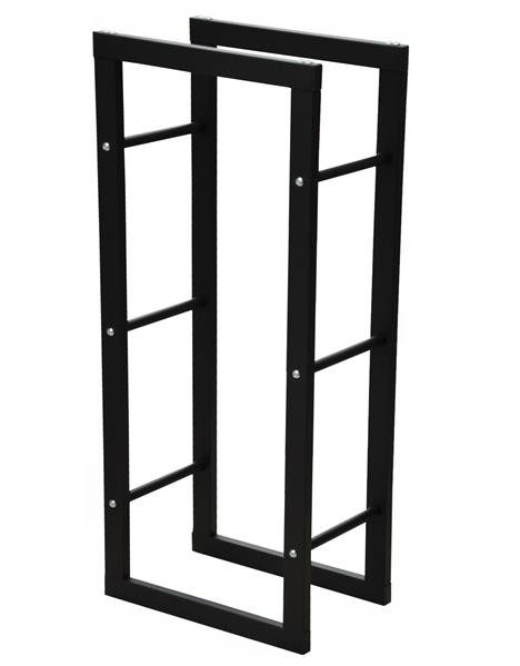 Kaminholzregal Olivia Metall schwarz - 100 x 40 x 25 cm