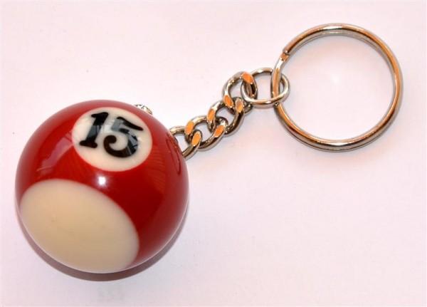 Schlüsselanhänger Billardkugel Nr. 15