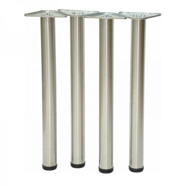 Tischbeine aus Edelstahl kaufen | 4er Set | Höhenverstellbar |