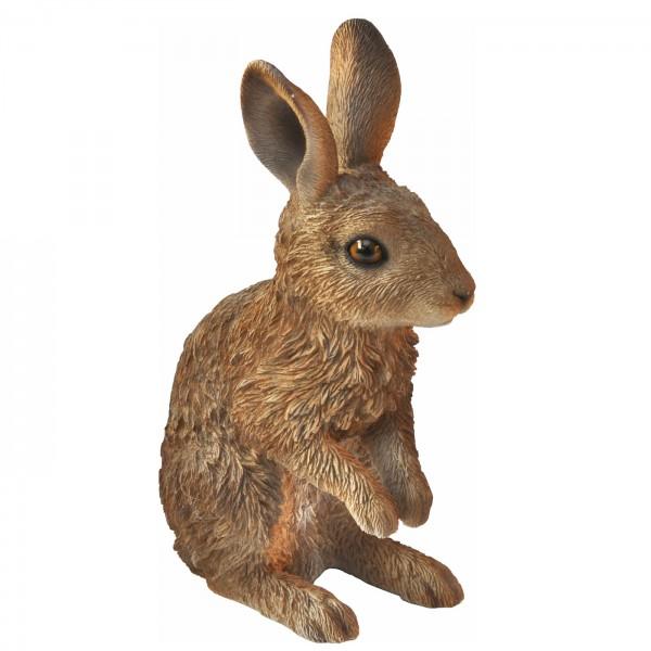 Gartenfigur Hase stehend - wetterfest - detailgetreu - Kunststein