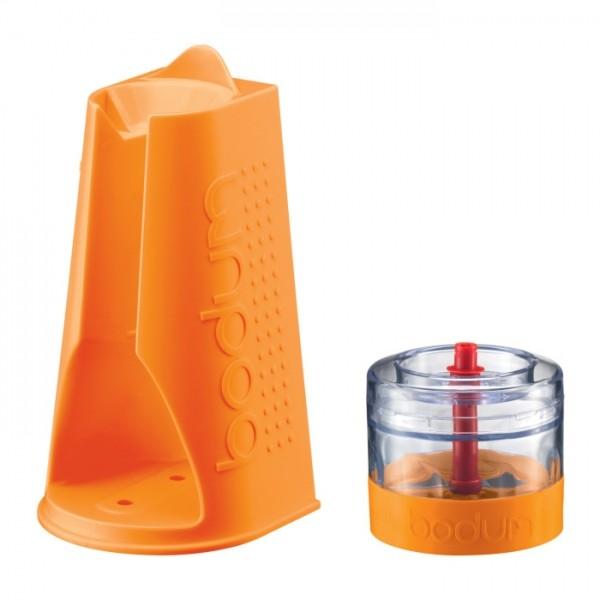 Bodum Bistro Ständer und Häcksler für BISTRO Stabmixer orange