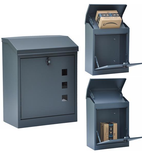 Briefkasten Paketbox Grau