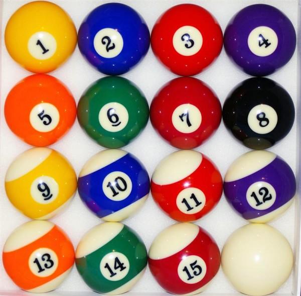 Billardkugeln Set Pool Billiard Kugeln Billardbälle Set 57,2 mm hochglanzpoliert