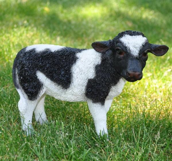 Dekofigur Gartenfigur Kuh