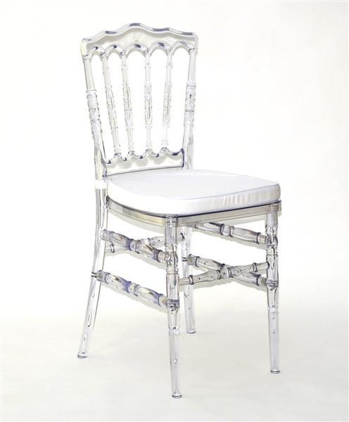 Plexiglas Stuhl transparent und stabil - mit Sitzkissen - 89 x 40 cm