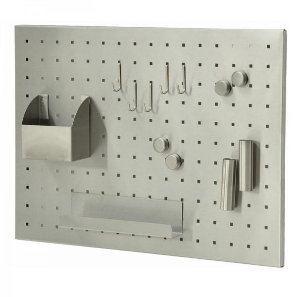 Magnettafel kaufen | Memo - Board | 50 x 35 cm | Edelstahl gebürstet |