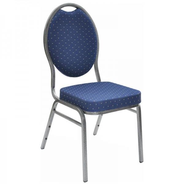 Stapelstuhl / Bankettstuhl in blau - unempfindliche Polsterung