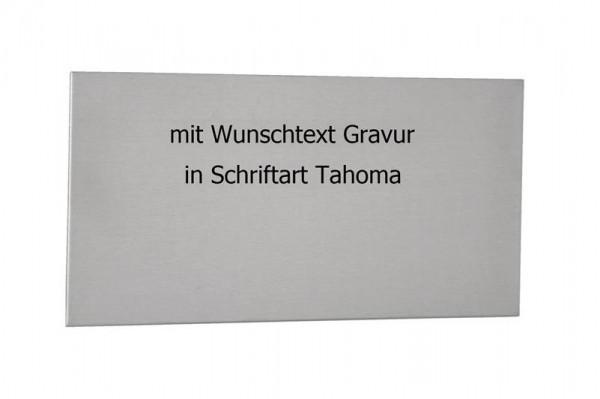 Edelstahlplatte kaufen | Edelstahl Schild | 20 x 10 | Zum Kleben |