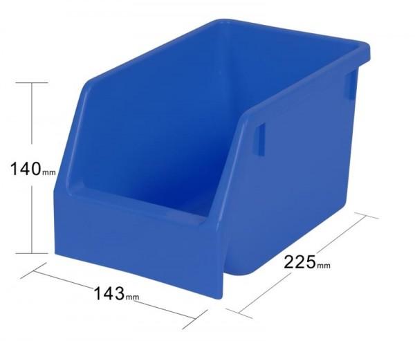 8-er Set Kunststoff Stapelbox blau